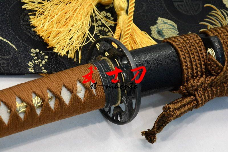 Handmade 1060 Carbon Steel Full Tang Unsharp Blade Japanese Iaido Training Katana Sword Tree Tsuba