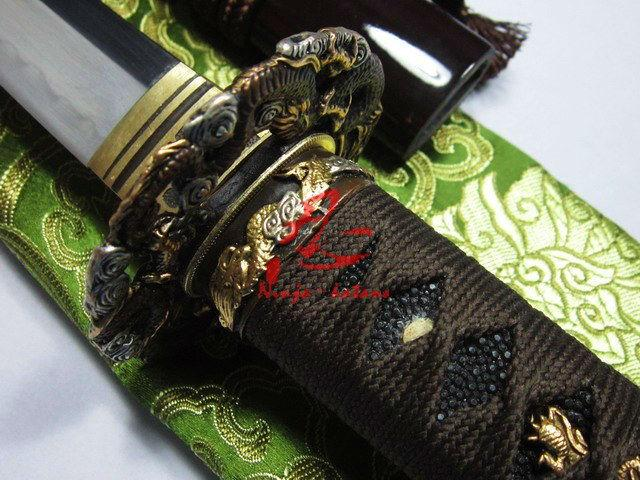 Battle Ready Clay Tempered 1095 Carbon Steel Japanese Dragon Katana Razor Sharp Edge