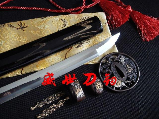 Battle Ready Japanese Samurai Katana Dragon Tsuba Sharpened 9260spring Steel Sword