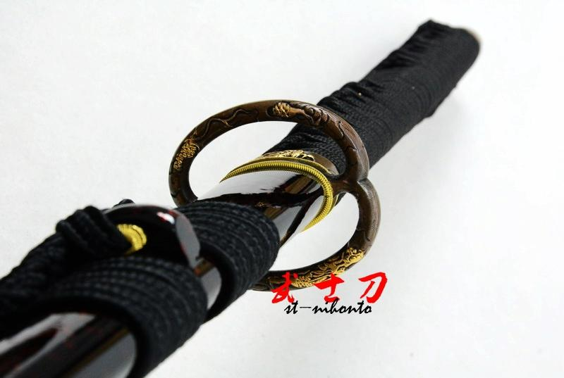 Clay Tempered T-10 Steel Japanese Samurai Katana Musashi Tsuba Functional Sword Real Yokote