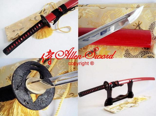 Battle Ready Aisi 1060 Carbon Steel Katana Tiger Tsuba Full Tang Blade Sharpened Blade