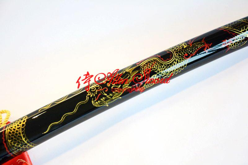 Battle Ready Clay Tempered Japanese Katana Sword Full Tang Blade Dragon Theme