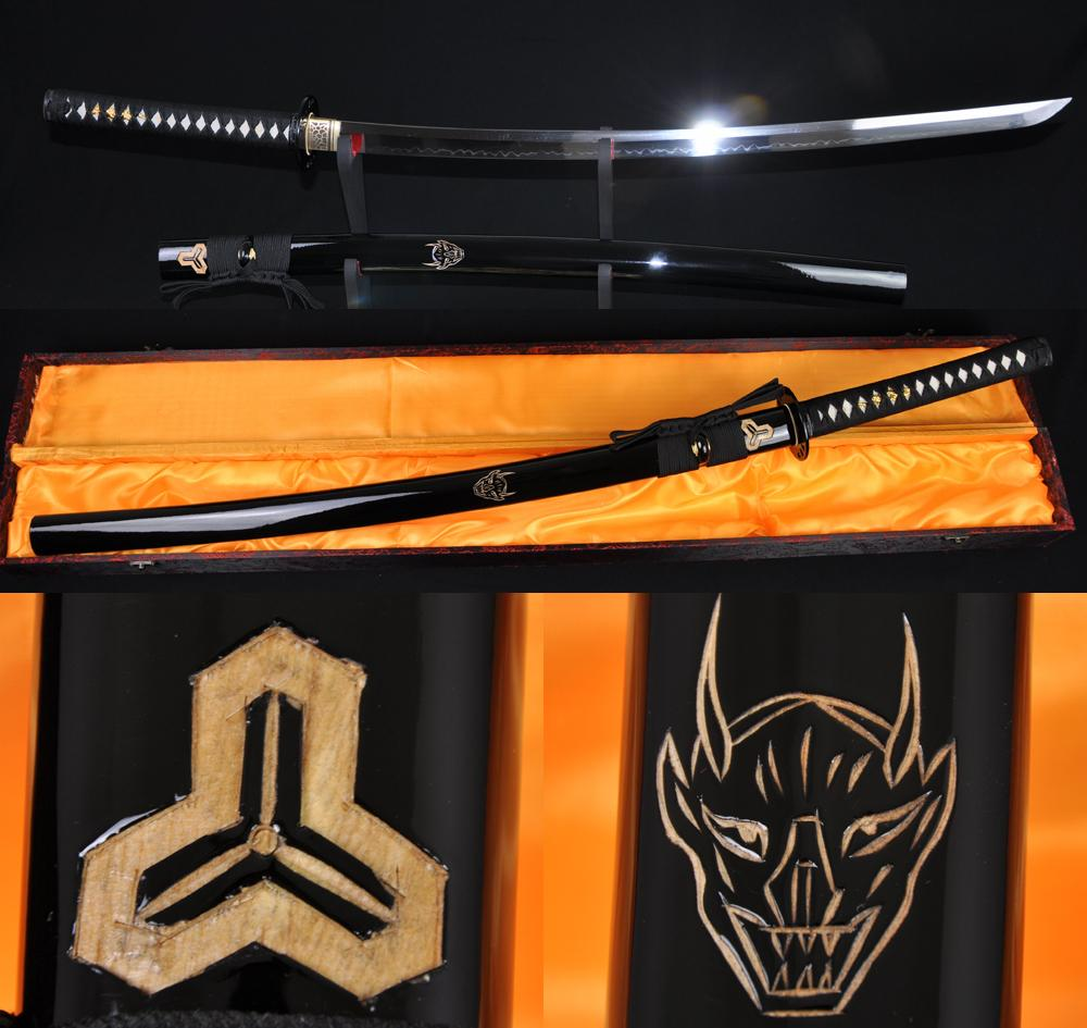 Battle Ready Kill Bill Sword Clay Tempered Full Tang Blade Japanese Katana