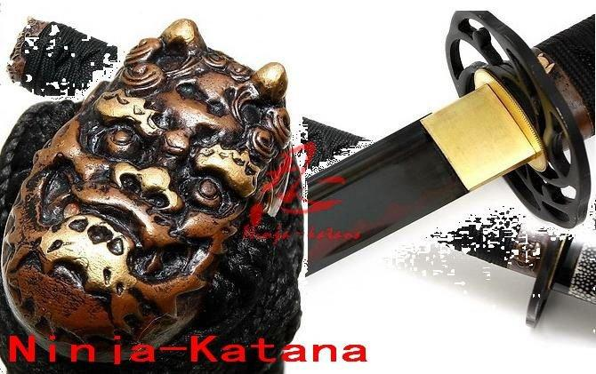 Claying Japanese Katana Cyclone Tsuba Adsorb Tungsten Blade