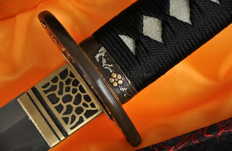 Top Quality Japanese Samurai Sword Katana Kobuse Blade Ray Skin Wrapped Saya