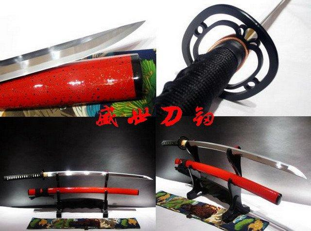 Battle Ready 9260 Spring Steel Blade Japanese Katana Blacked Steel Fitting Full Tang