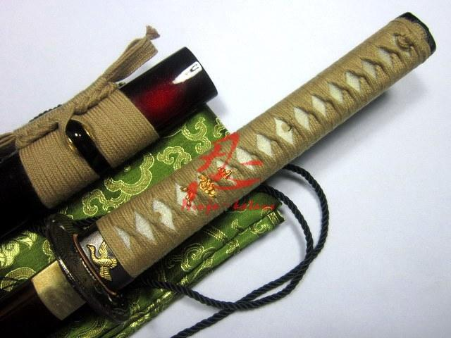 Battle Ready Japanese Red Katana Phenix Tsuba Tempered 9260 Spring Steel Sword