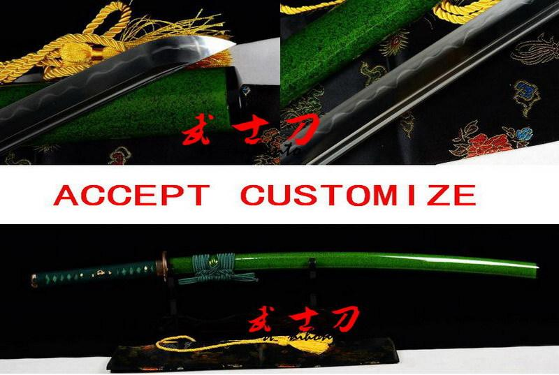 Handmade Battle Ready Clay Tempered Sanmai Blade Japanes Samurai Dragonfly Tsuba Katana Full Tang