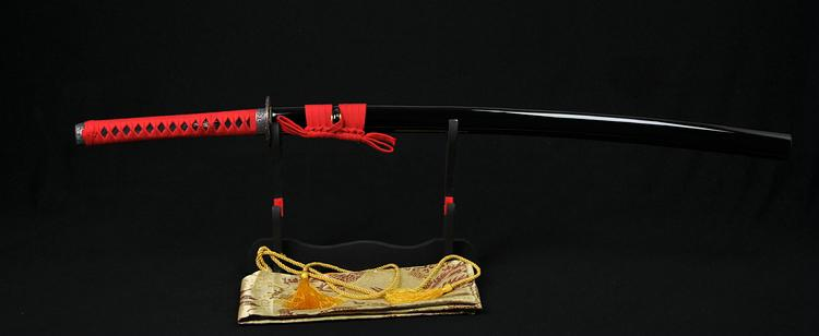 41 Inch Japanese Samurai Katana Sword Wave Tsuba Folded Steel Blade Can Cut Bamboo