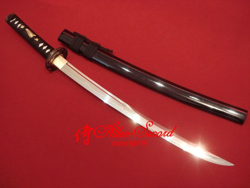 Battle Ready Japanese Wakizashi Katana Clay Tempered Unokubi-Zukuri Full Tang Blade