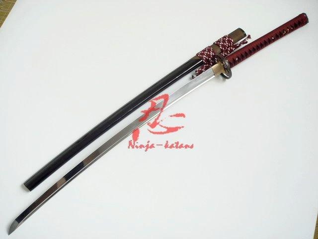 Clay Tempered Functional Katana Ray Skin Saya Razor Sharp
