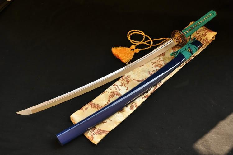 41 Inch Japanese Sword Aisi 1095 Steel Double Groove Blade