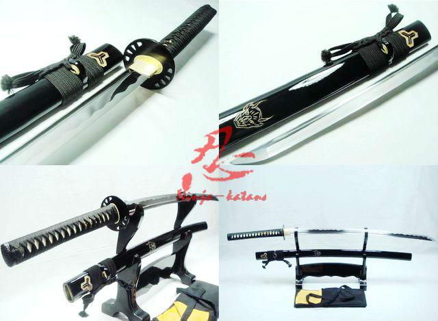 Battle Ready Japanese Kill Bill Katana Sword Spring Steel Blade Can Cut Tatami
