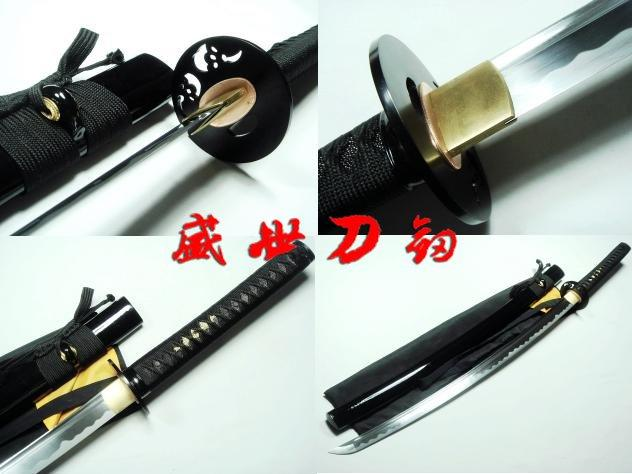 Battle Ready Japanese Samurai Katana Iron Tadpole Tsuba Sharpened Blade