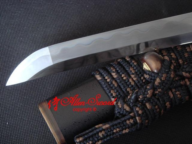Clay Tempered Fully Polishing T10 Carbon Steel Blade Katana Musashi Tsuba Sharp