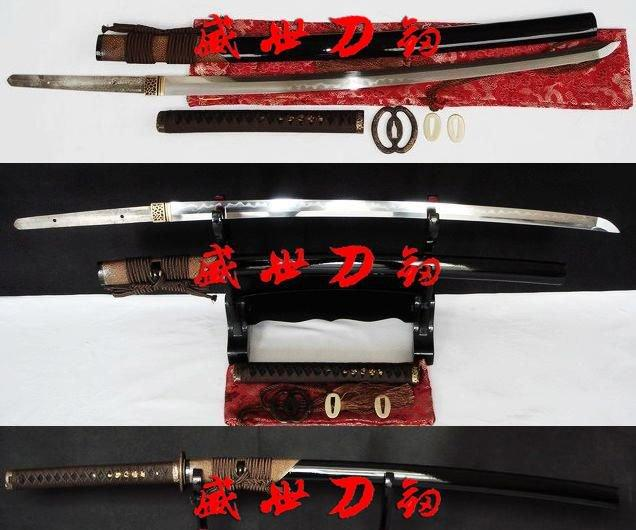 Clay Tempered Sanmai Blade Japanese Musashi Katana Battle Ready Sword Sharpened