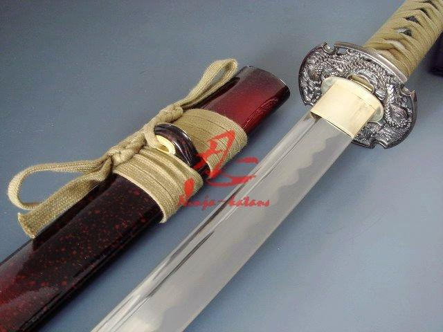 Handforged Jp Dragon Katana Unsharp Edge For Iaido Sword