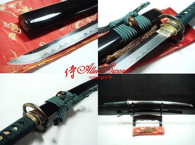 High Quality Japanese Samuri Musashi Katana Sword Clay Tempered Full Tang Blade
