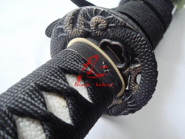 Handmade Japanese Katana Black Dragon Tsuba Sharpened