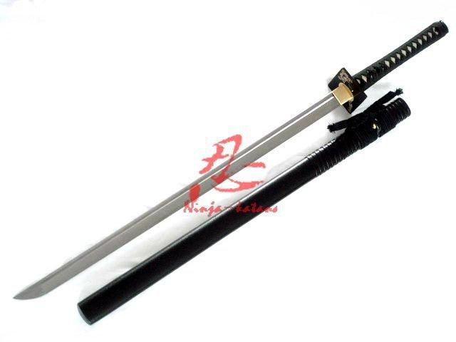 Dragaon/Tiger Square Tauba Ninja Sword Sharpend Blade Folded Steel