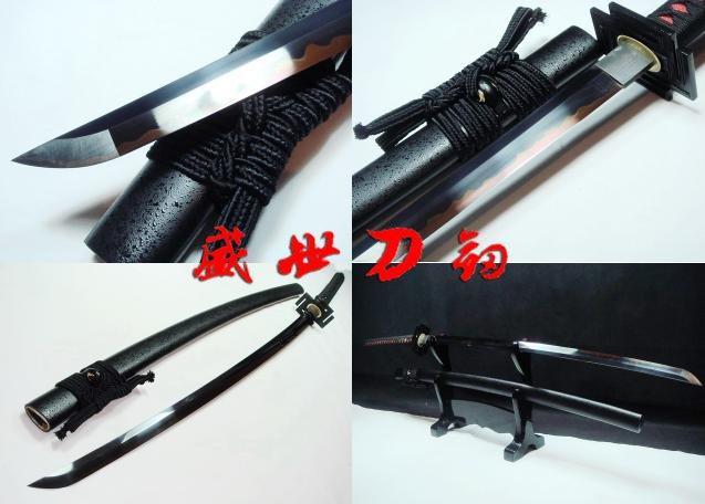 130cm Clay Tempered Bleach Inchigo Tensa Sword Adsorb Tungsten Battle Ready Katana