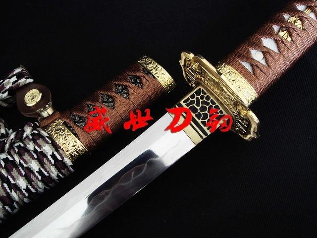 Luxury Battle Ready Japanese Samurai Tachi Sword Sanmai Blade Sharpened
