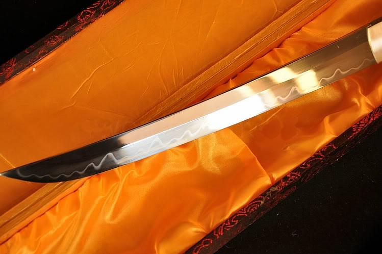 21 Inch High Quality Japanese Sword Tanto Clay Tempered Full Tang Blade Very Sharp
