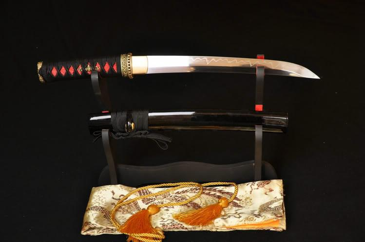 21 Inch High Quality Japanese Samurai Sword Tanto Clay Tempered Full Tang Blade