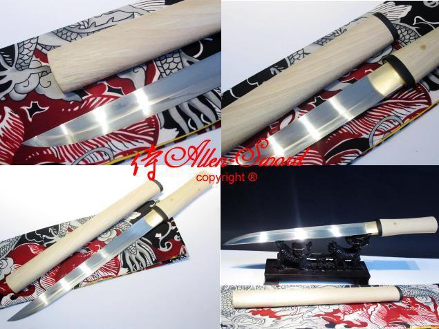 16.9 Inch Claytempered 1095 Steel Japanese Tanto Suguha Hamon Blade Sword Rikko Handle