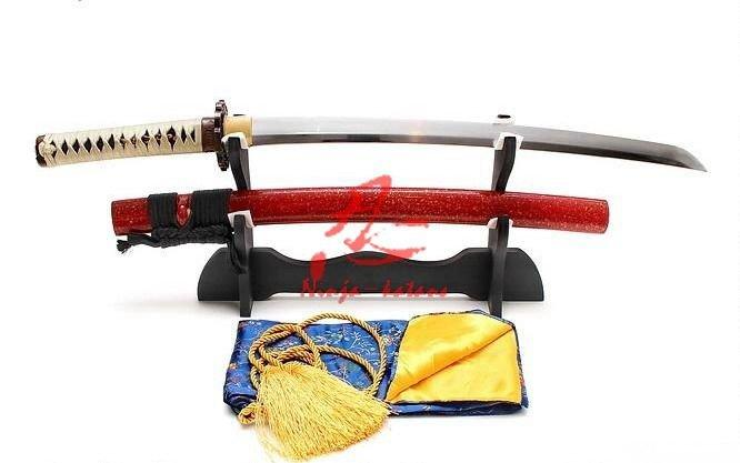 Clay Tempered Wakizashi Katana Dragon Tsuba Razor Sharp Edge
